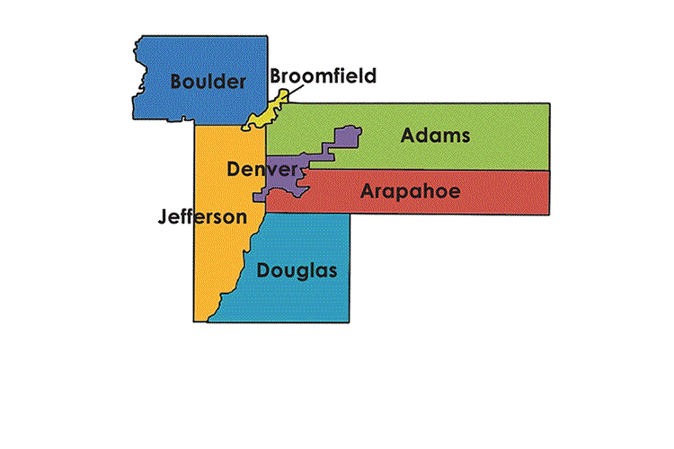 Map of area covered by Denver Urban Field Station.