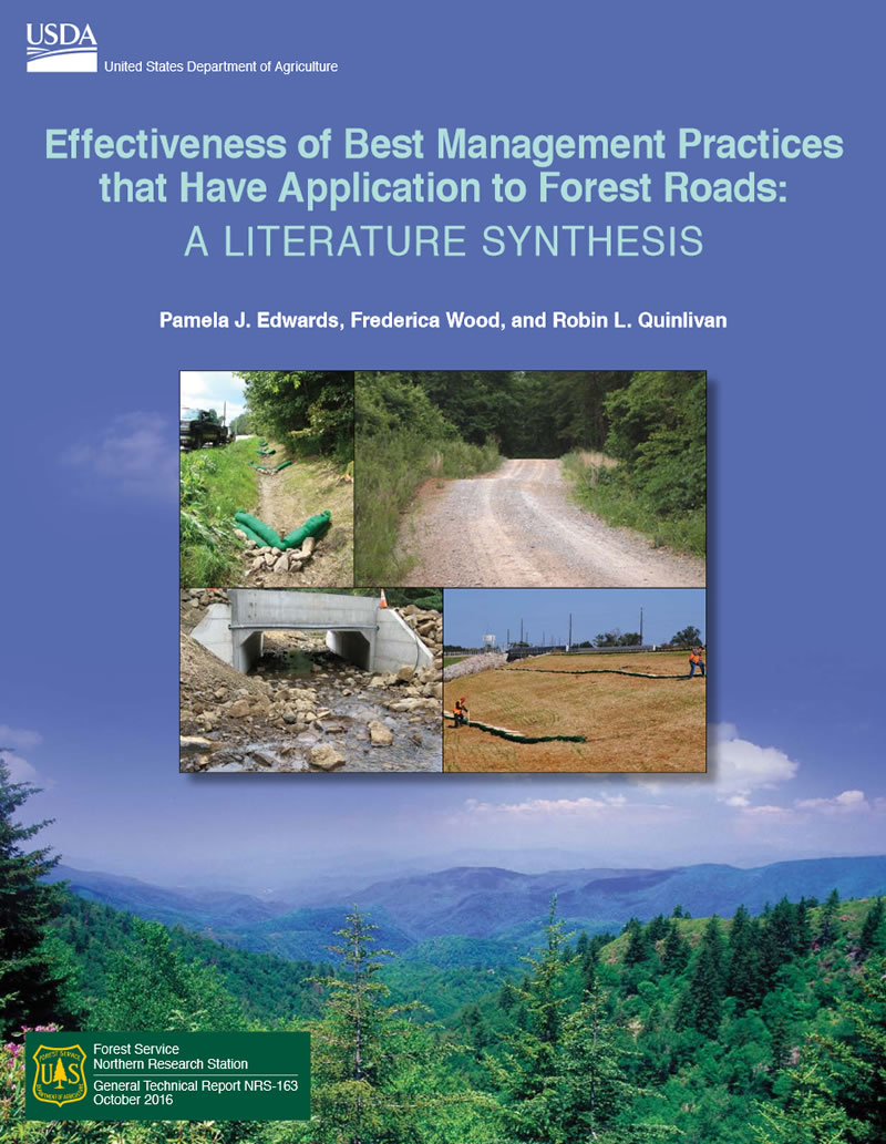 Cover image from GTR-NRS-163: Effectivenmess of best management practices that have application to forest roads: a literature synthesis.
