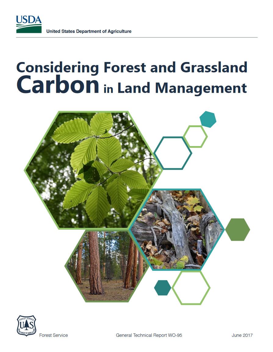 Cover image from GTR-WO-95: Considering Forest and Grassland Carbon in Land Management.