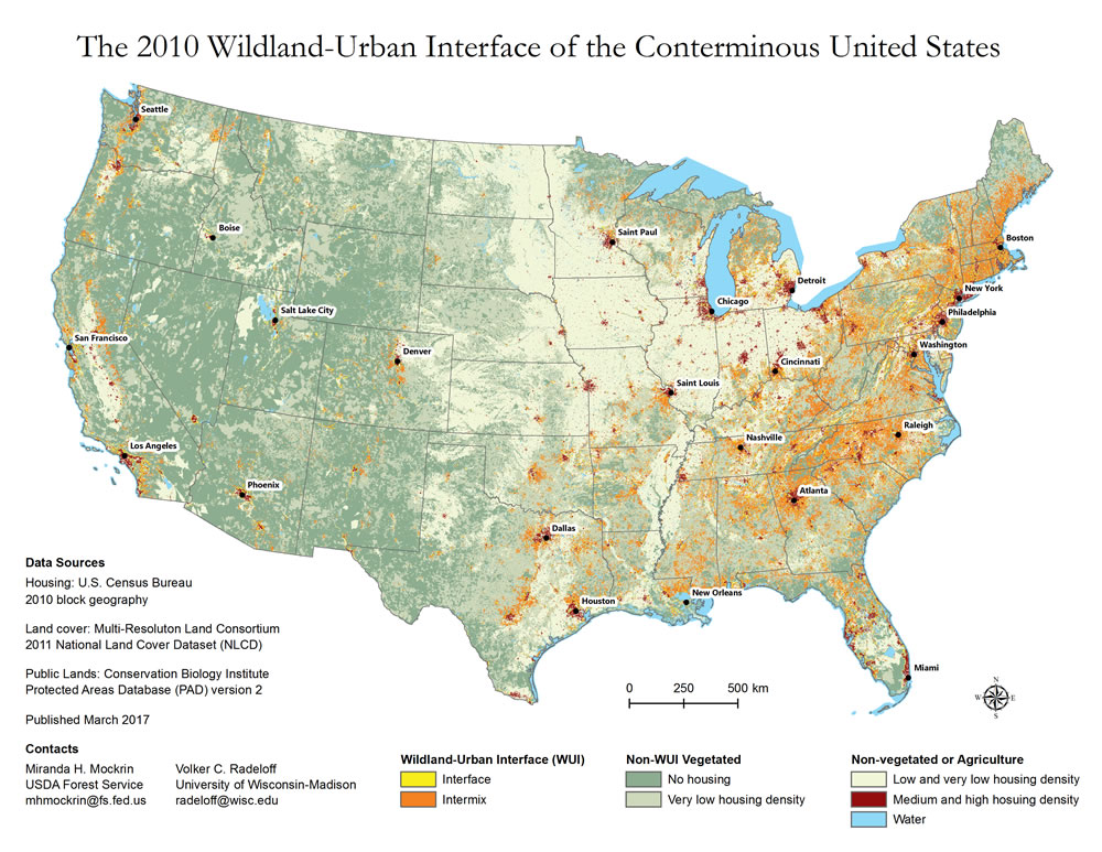 New analyses reveal WUI growth in the U.S. - Northern ...