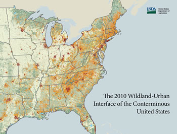 Cover of publication - The 2010 Wildland-Urban Interface of the Conterminous United States
