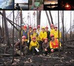 Field Crew - Fall 2011; Front row left to right:  Bernard Isaacson, Shawn Fraver (co-PI), Clayton Kingdon, Phil Townsend (PI).  Middle row:  Amy Milo, Heather Fox, Brian Sturtevant (co-PI), Mike Reinikainen.  Back row:  Joel Flory, Alex Brito, Rob Focht, Jason Selin, Peter Wolter (co-PI)