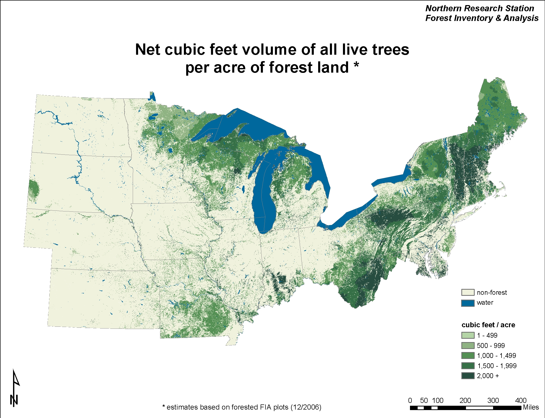 USDA Forest Service - Map ot the us