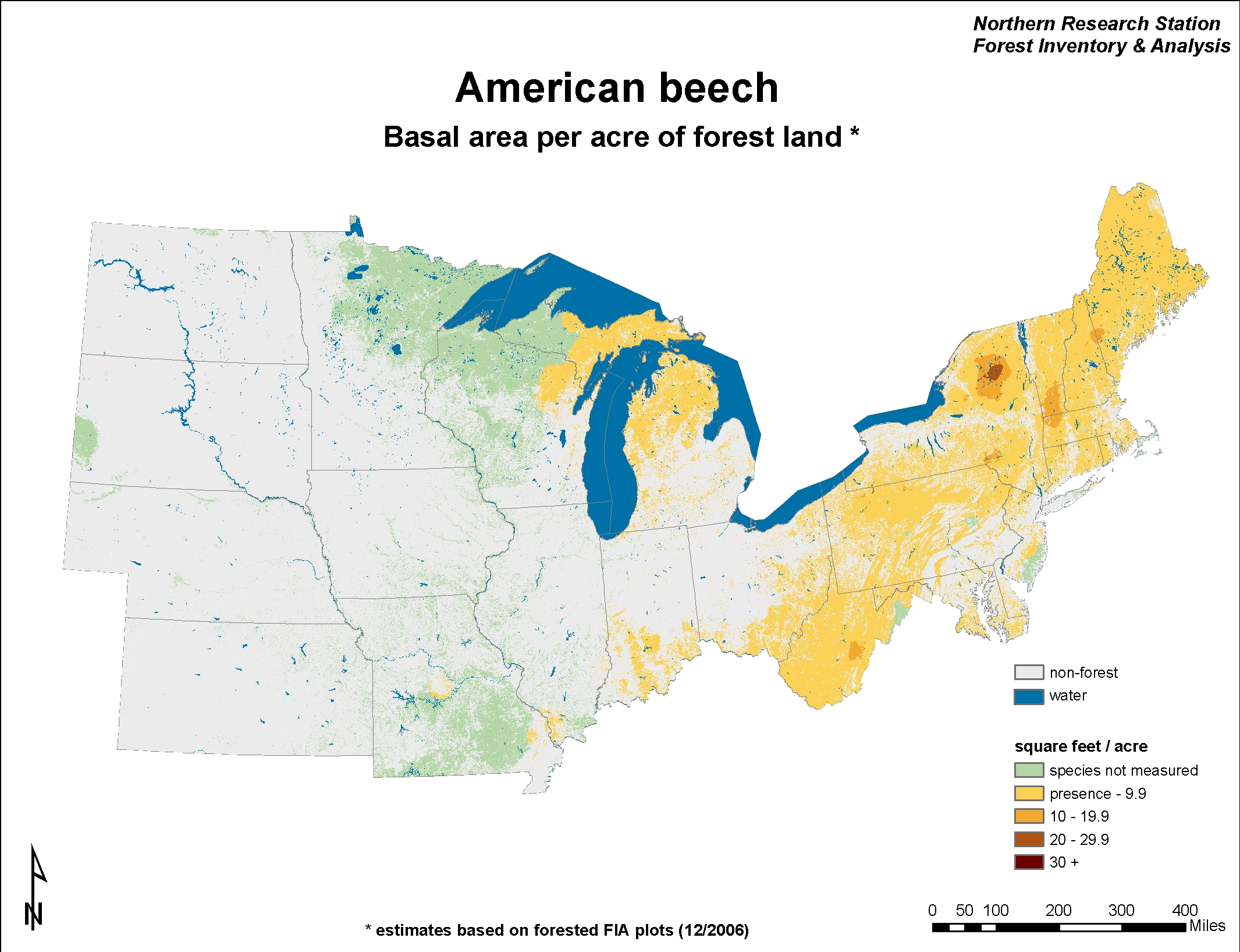 USDA Forest Service - Map of us forest types
