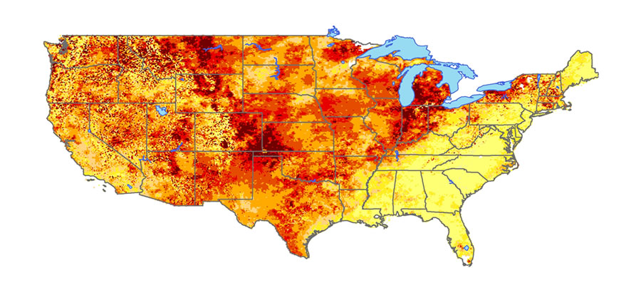 Drought map.