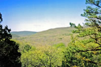 [photo:] view from Mina Sauk Falls, Mark Twain National Forest.