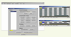 [image:] View of a version of a data recorder software package developed for NIMAC projects