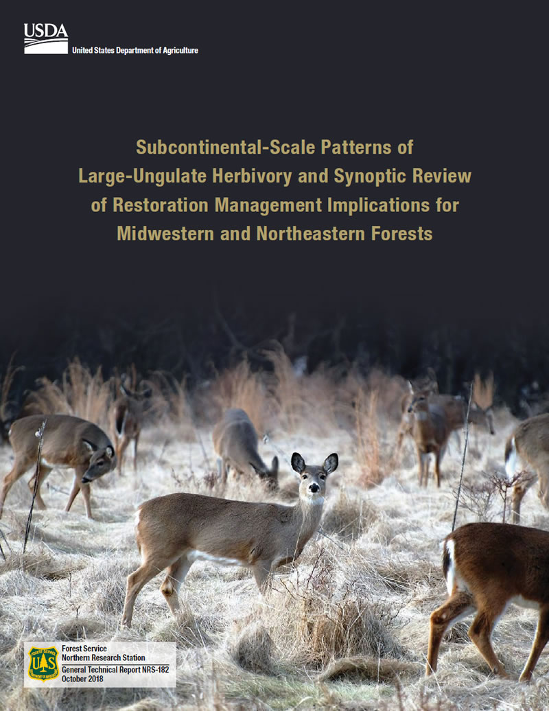 Cover Image: Subcontinental-scale patterns of large-ungulate herbivory and synoptic review of restoration management implications for midwestern and northeastern forests