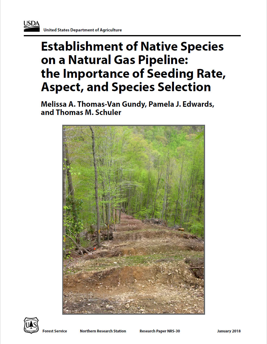 Cover Image: Establishment of native species on a natural gas pipeline: the importance of seeding rate, aspect, and species selection