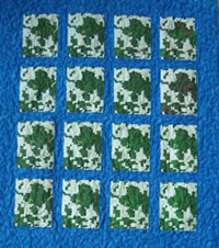 This LANDIS quilt shows the dominant tree species over a 150 year time period for four different management scenarios.