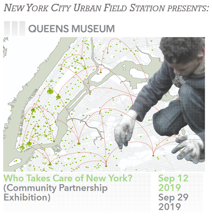 Artwork promoting Queens Museum exhibit. Image credit: SAVI (Spatial Analytics and Visualization Initiative), Can Sucuoglu, 2019.