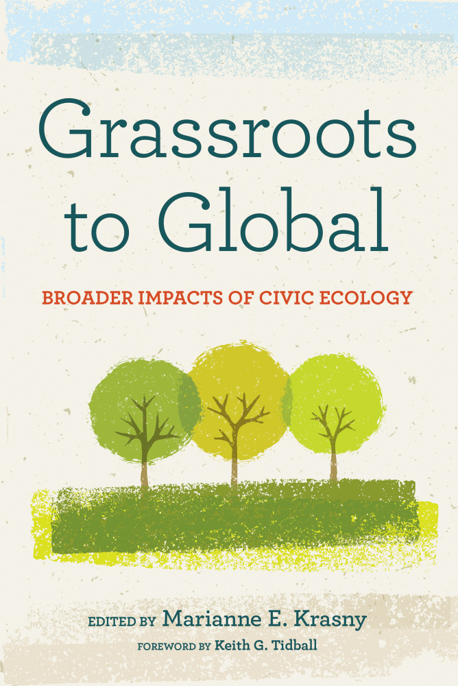 Cover image from book- Grassroots to Global