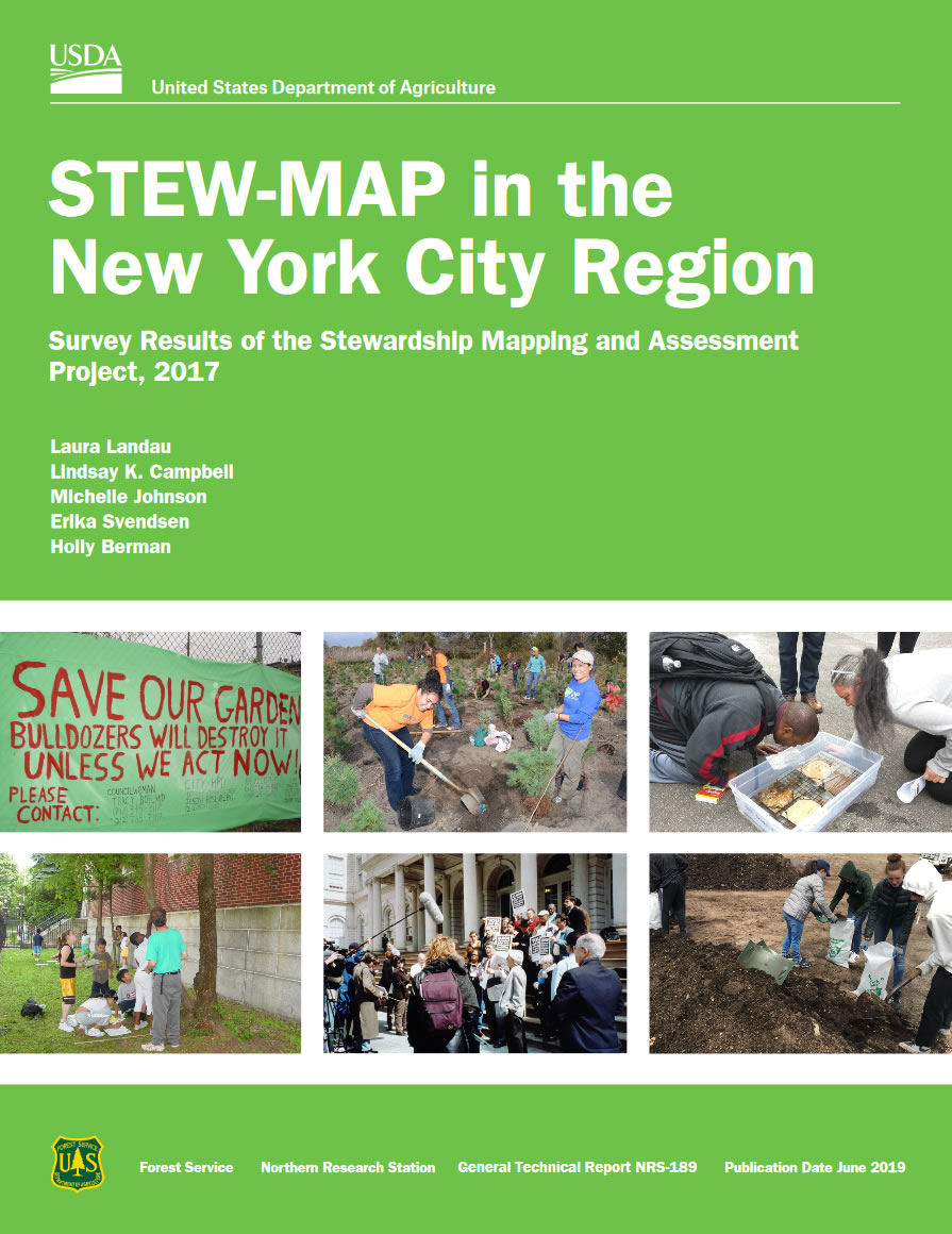 Cover image from publication - STEW-MAP in the New York City region: survey results of the Stewardship Mapping and Assessment Project