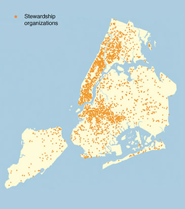 Image Map Showing Stewardship Areas In Nyc