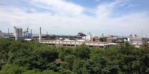 [photo:] Green Space and Industry are side by side in Camden, New Jersey