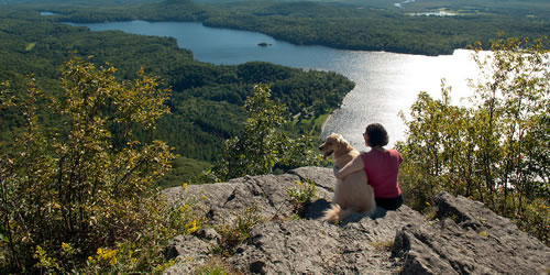[photo:] Lake Dunmore and Fern Lake from Rattlesnake Cliffs in the Moosalamoo National Recreation Area, Vermont.