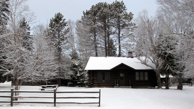 Built in the 30s by the CCC, the former Superior National Forest's Tofte Ranger Station is now used for seasonal housing.