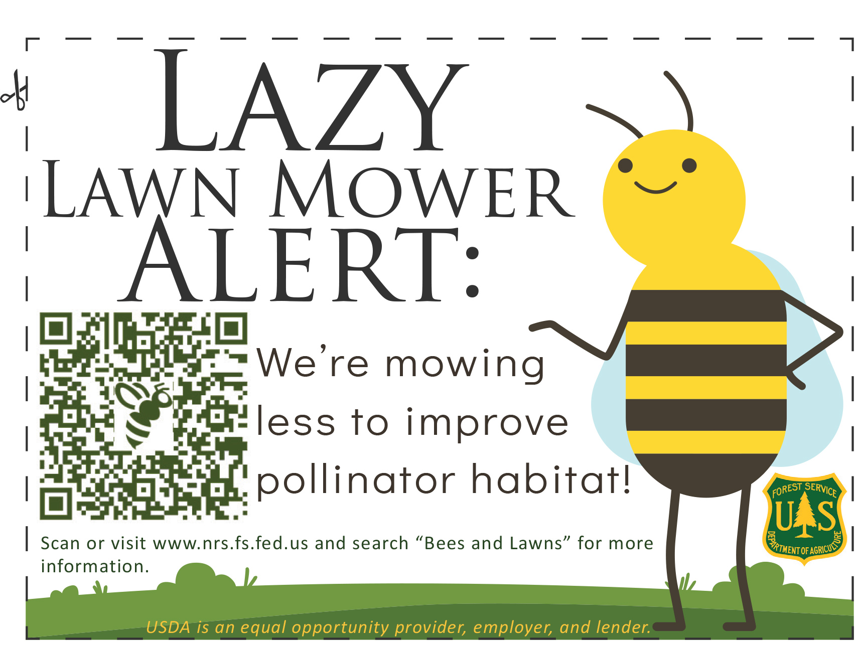download printable lazy lawn mower lawn sign