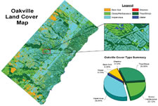 Image Map Of Cover Types In Oakville Ontario Based On Classification Of